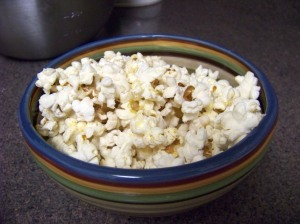 Fresh and healthy popcorn