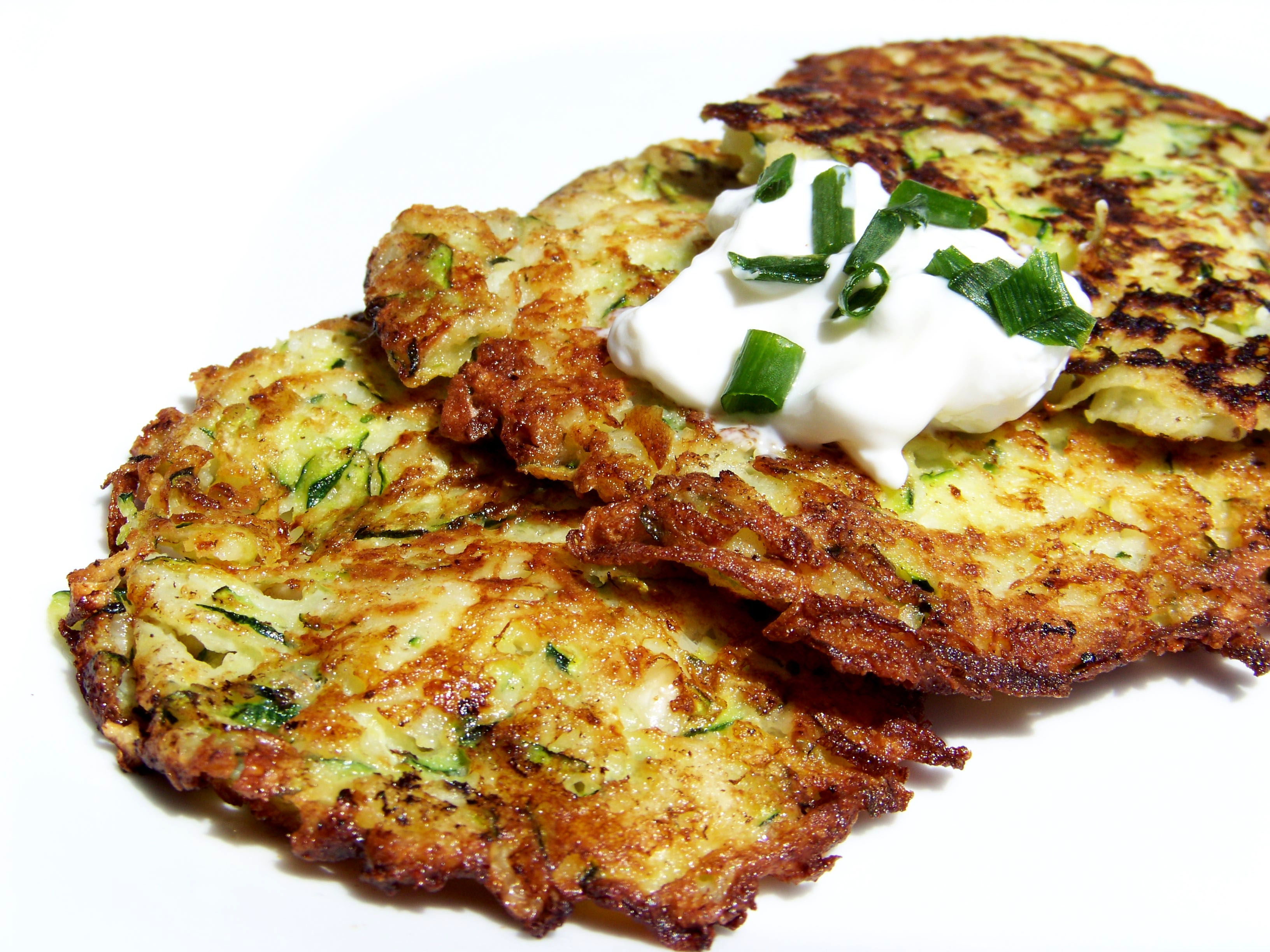 Zucchini and Jicama Latkes – Healthy For Two