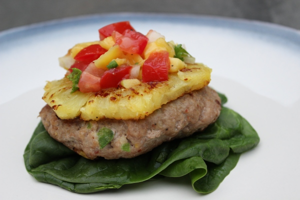 pineapple turkey burger